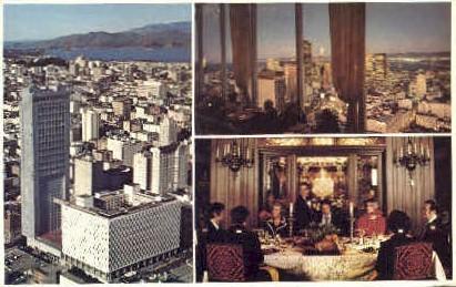 Hilton & 46 Story Tower - San Francisco, California CA Postcard