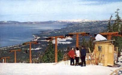 Heavenly Valley Ski Lift - Lake Tahoe, California CA Postcard