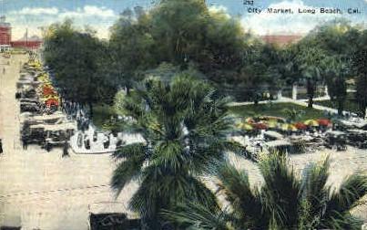 City Market - Long Beach, California CA Postcard