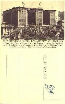 The Biltmoor Hotel - Los Angeles, California CA Postcard