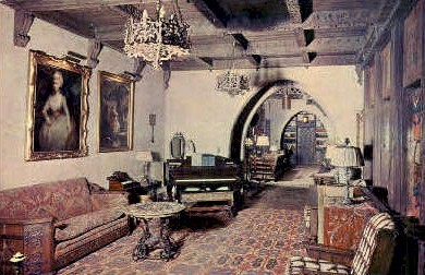 The 1st Floor Music Room, Scottys Castle - Death Valley, California CA Postcard