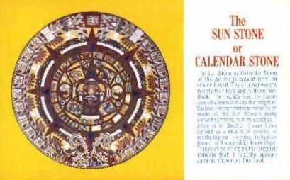 The Sun Stone, LA County Museum - Los Angeles, California CA Postcard