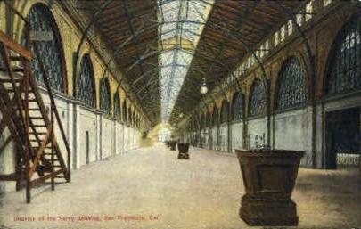 Interior of the Ferry Building - San Francisco, California CA Postcard