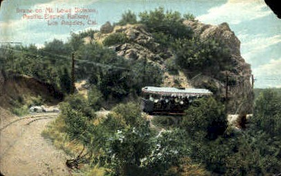 On Mt. Lowe Division - Los Angeles, California CA Postcard