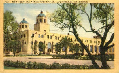 New Terminal Annex Post Office - Los Angeles, California CA Postcard