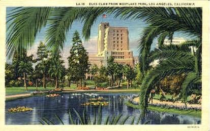 Elks Club - Los Angeles, California CA Postcard