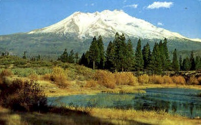 Mount Shasta - MIsc, California CA Postcard
