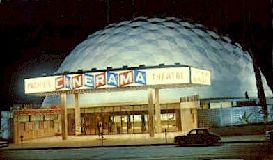 Pacifics Cinerama Theatre - Hollywood, California CA Postcard