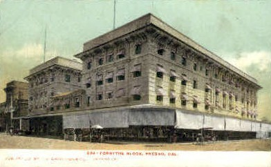 Forsythe Block - Fresno, California CA Postcard