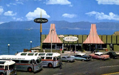 Dannys Cliff Chalet - MIsc, California CA Postcard