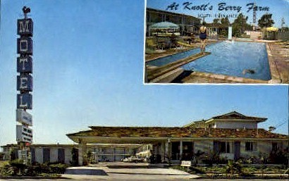 Farm de Ville Motel - Buena Park, California CA Postcard