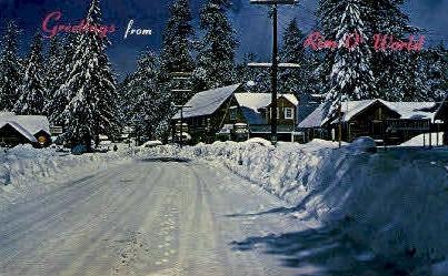 San Bernardo Mts. In Winter - MIsc, California CA Postcard