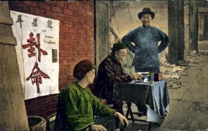 A Chinese Fourtune Teller - MIsc, California CA Postcard