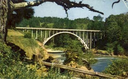 Russian Gulch Bridge - MIsc, California CA Postcard