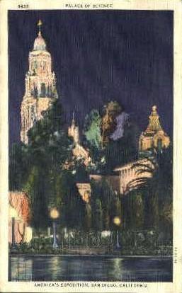 Americas Exposition - San Diego, California CA Postcard