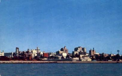 Skyline & Downtown - San Diego, California CA Postcard