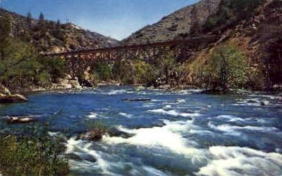 Anglers Paradise on Kern River - MIsc, California CA Postcard