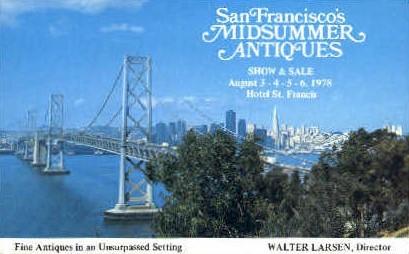 Midsummer Antiques - MIsc, California CA Postcard