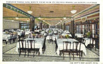 Dining Room, Hotel Rosslyn - Los Angeles, California CA Postcard