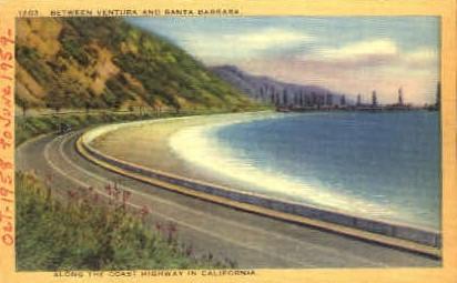 Along the Coast Highway  - MIsc, California CA Postcard