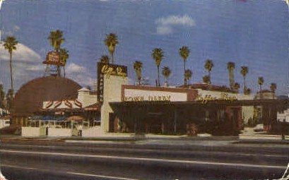 Hollywood Brown Derby Restaurant - California CA Postcard