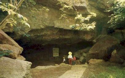 Entrance to Alabaster Caverns - MIsc, California CA Postcard