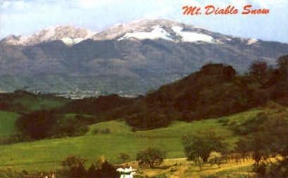 Mt. Diable Snow - San Francisco, California CA Postcard