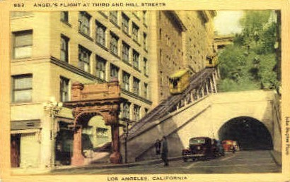Angels Flight  - Los Angeles, California CA Postcard
