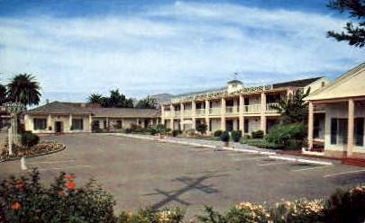 Colonial Motel - Santa Barbara, California CA Postcard