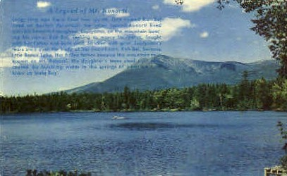 The Legend of Mt. Koncti - Clear Lake, California CA Postcard