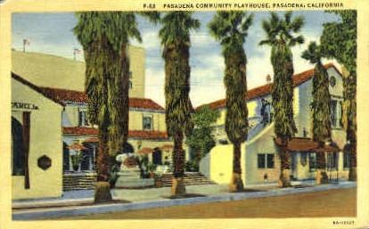 Pasadena Community Playhouse - California CA Postcard