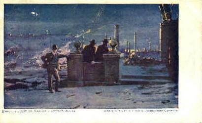 Evening Light on Van Ness Avenue Ruins - MIsc, California CA Postcard
