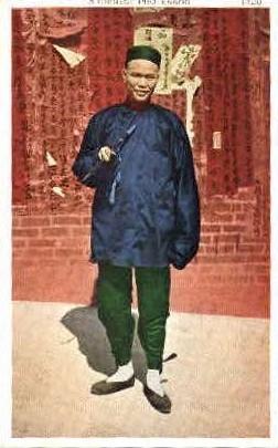 A Chinese Professor - MIsc, California CA Postcard