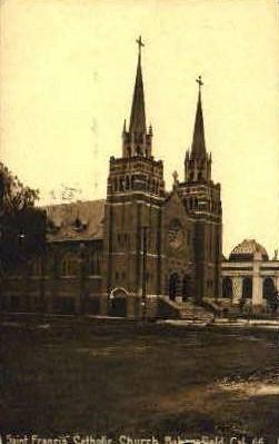 Saint Francis Catholic Church - Bakersfield, California CA Postcard
