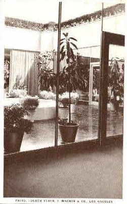 Patio 4th Floor, I. Magnin & Co. - Los Angeles, California CA Postcard