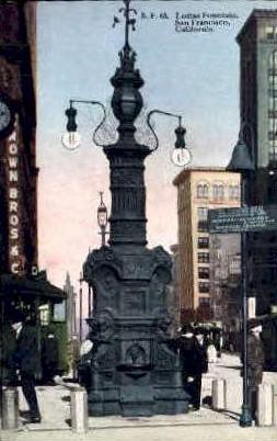 Lottas Fountain - San Francisco, California CA Postcard