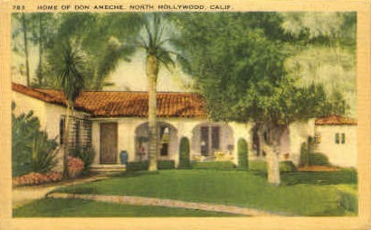 Home of Don Ameche - Hollywood, California CA Postcard