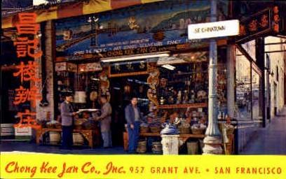 Chong Kee Jan Co. - San Francisco, California CA Postcard