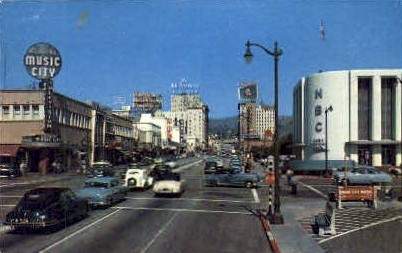 Sunset and Vine - Hollywood, California CA Postcard