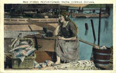 Mary Pickford, Pickford-Fairbanks Studios - Hollywood, California CA Postcard