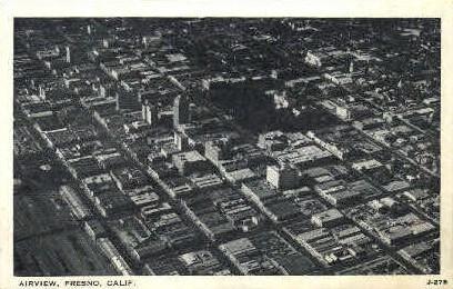 Airview - Fresno, California CA Postcard