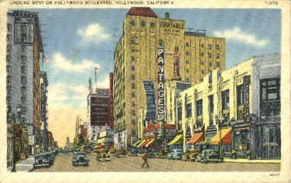 West Hollywood Boulevard - California CA Postcard