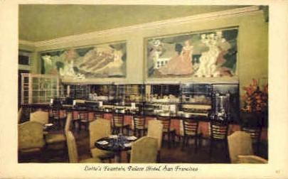 Lottas Fountain, Palace Hotel - San Francisco, California CA Postcard