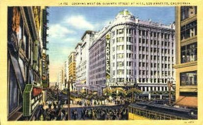 7th Street West - Los Angeles, California CA Postcard