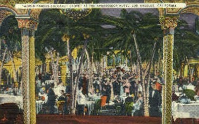 Cocoanut Grove - Los Angeles, California CA Postcard