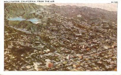 Air View   - Hollywood, California CA Postcard