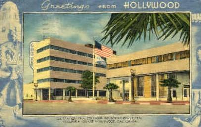 Columbia Broadcasting System - Hollywood, California CA Postcard
