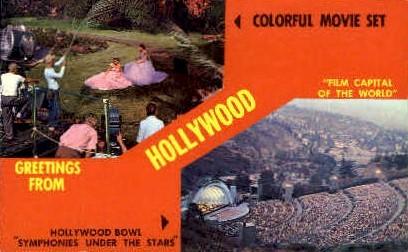 Greetings From - Hollywood, California CA Postcard