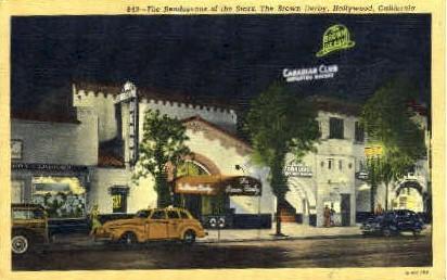 The Brown Derby Restaurant - Hollywood, California CA Postcard