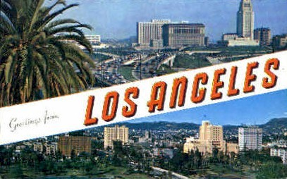 Greetings From - Los Angeles, California CA Postcard